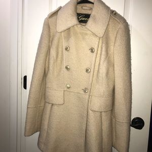 Winter coat. Beige